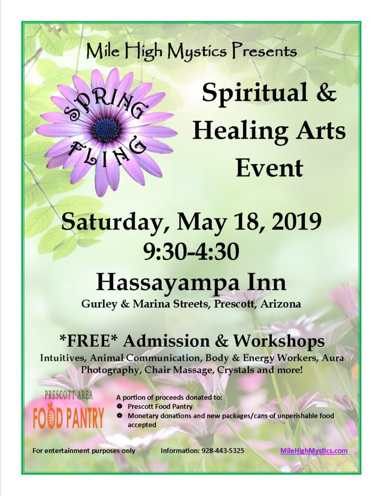 flyer for May 18th, 2019 event